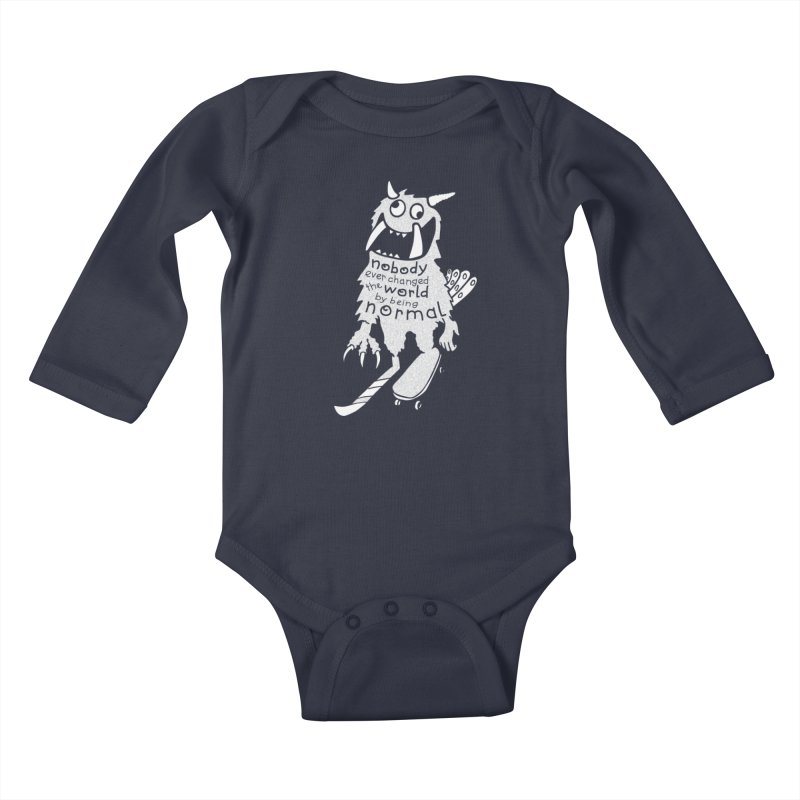Change the World Kids Baby Longsleeve Bodysuit by Slogantees
