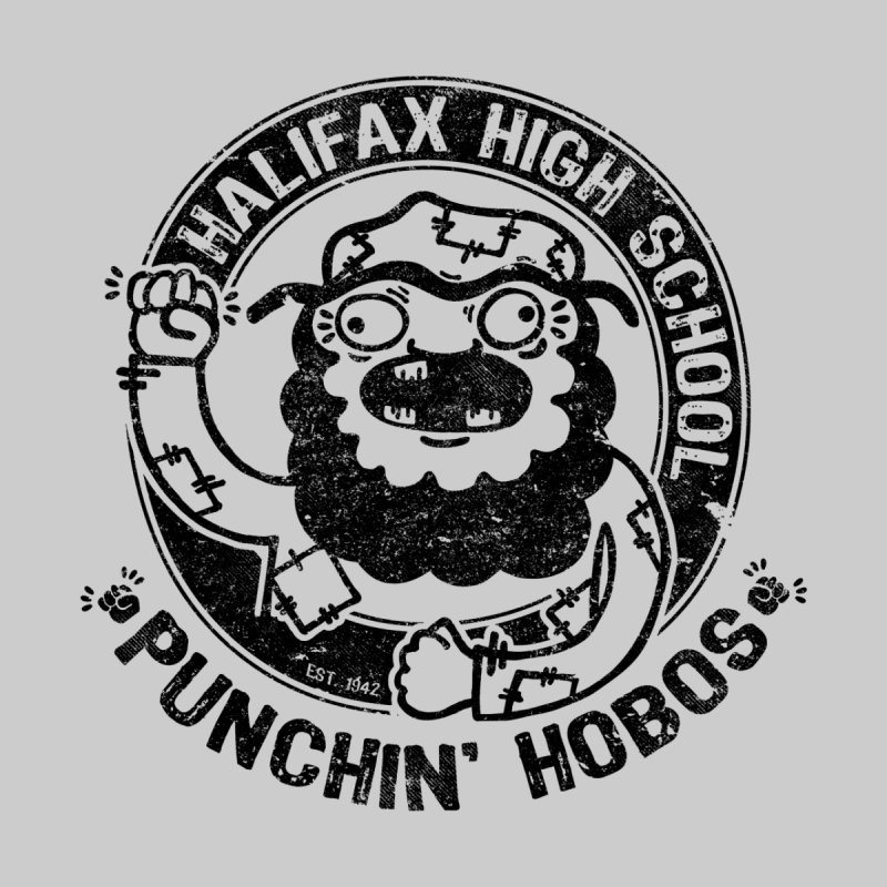 Punchin' Hobos Home Throw Pillow by Slogantees