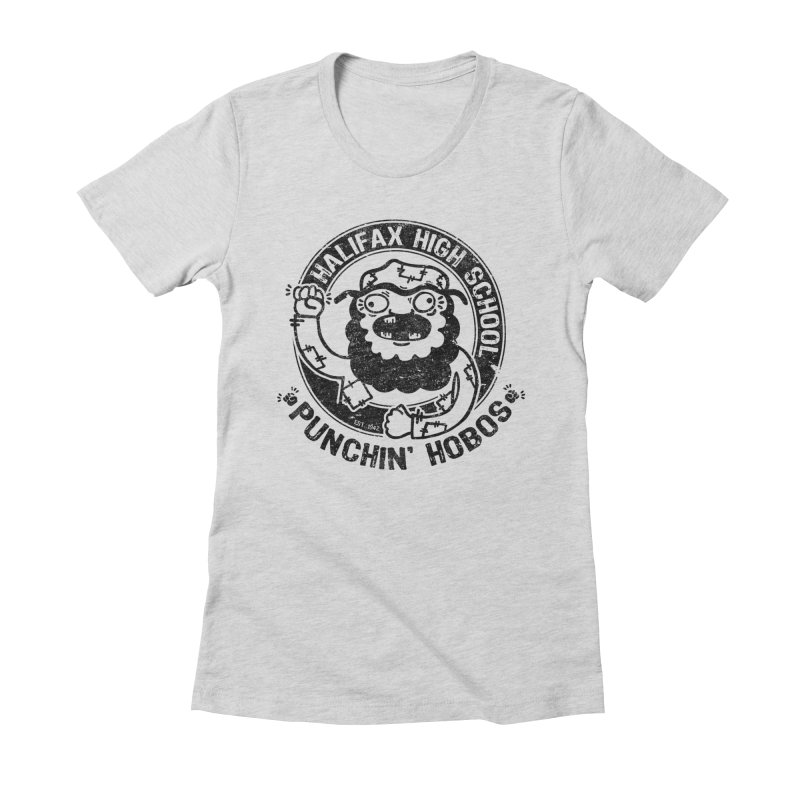 Punchin' Hobos Women's Fitted T-Shirt by Slogantees