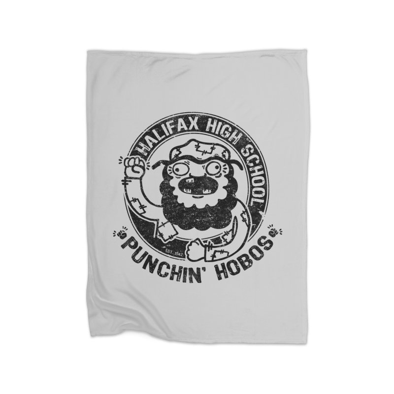 Punchin' Hobos Home Fleece Blanket by Slogantees