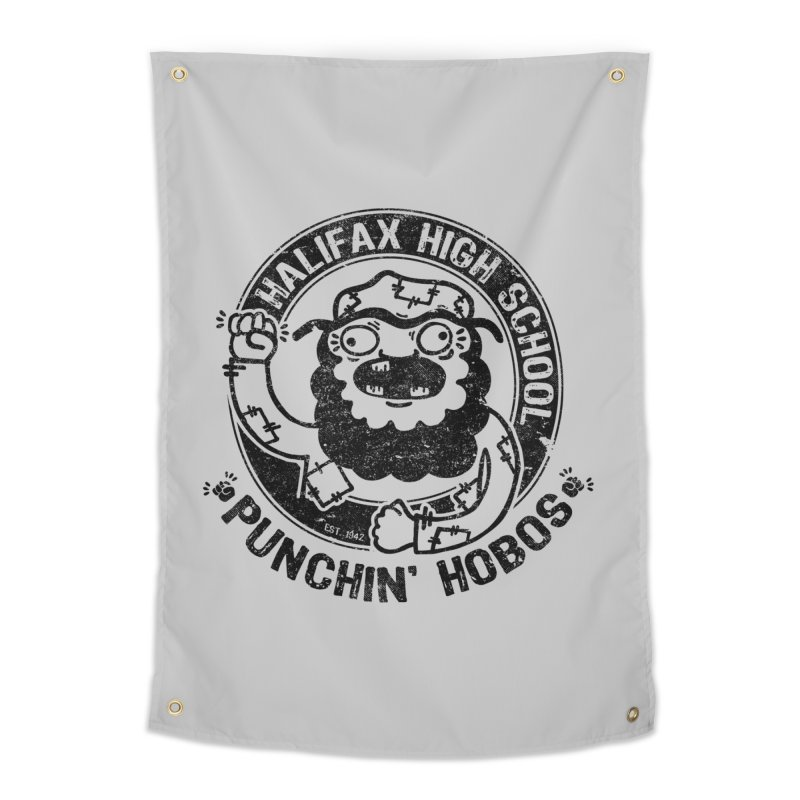 Punchin' Hobos Home Tapestry by Slogantees