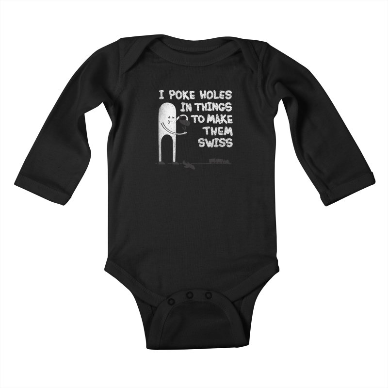 Making Swiss Happen Kids Baby Longsleeve Bodysuit by Slogantees