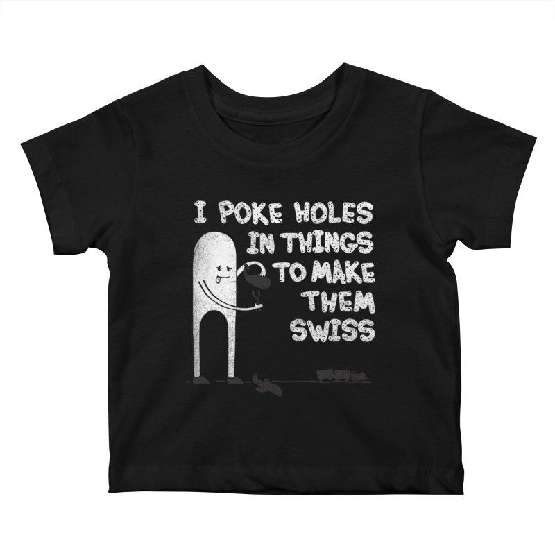 Making Swiss Happen Kids Baby T-Shirt by Slogantees