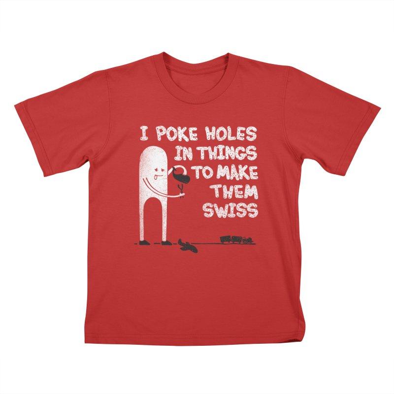 Making Swiss Happen Kids T-Shirt by Slogantees