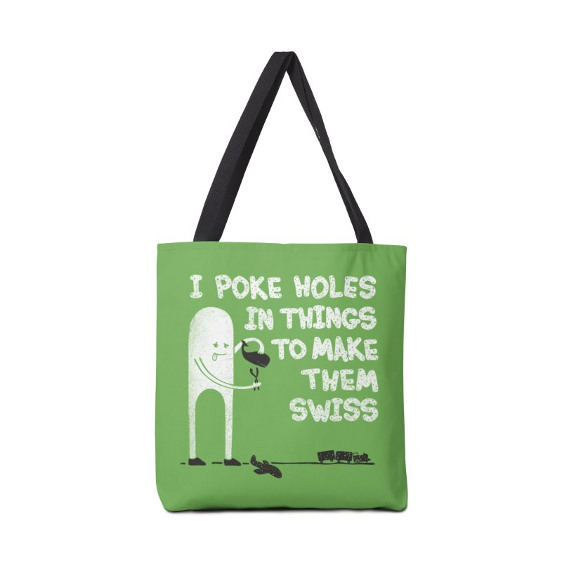 Making Swiss Happen Accessories Bag by Slogantees