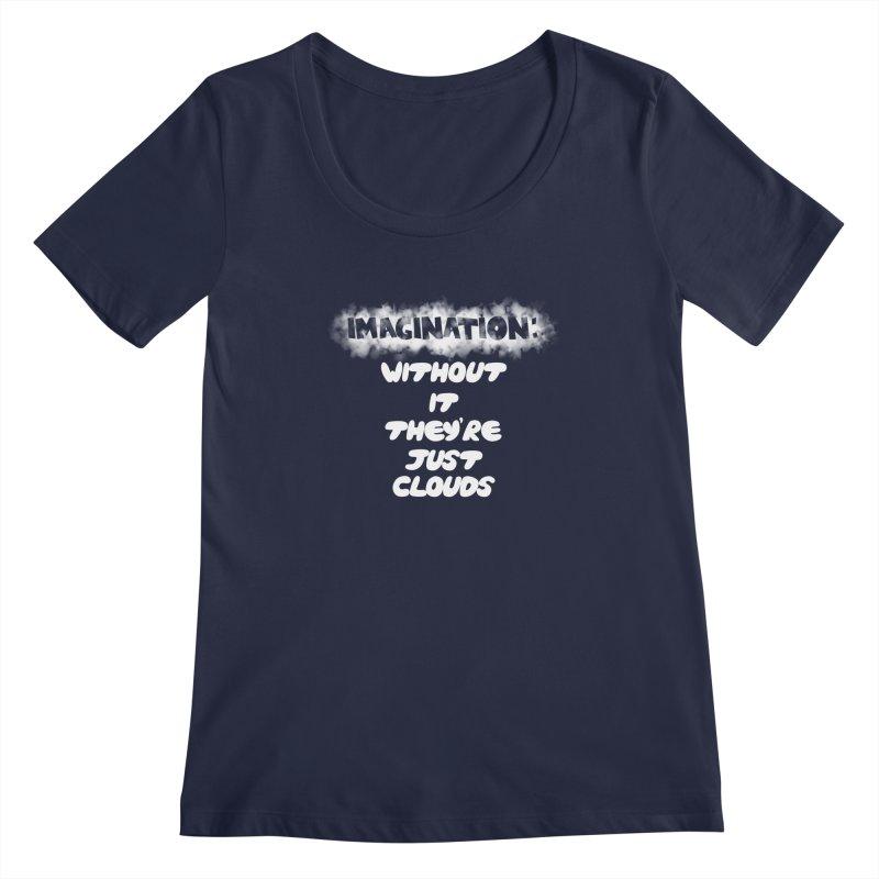 Imagination Women's Scoopneck by Slogantees