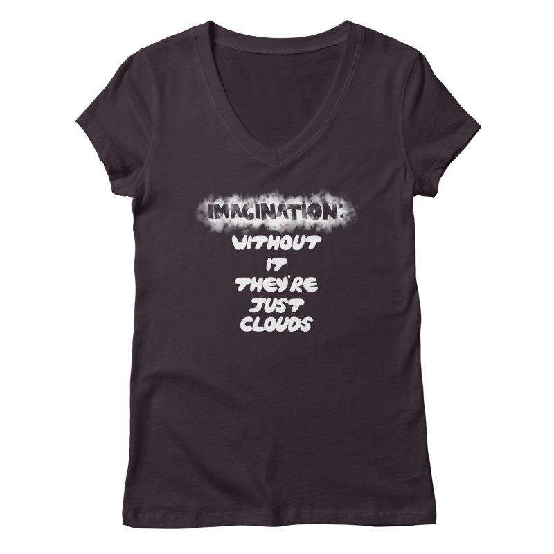 Imagination Women's V-Neck by Slogantees