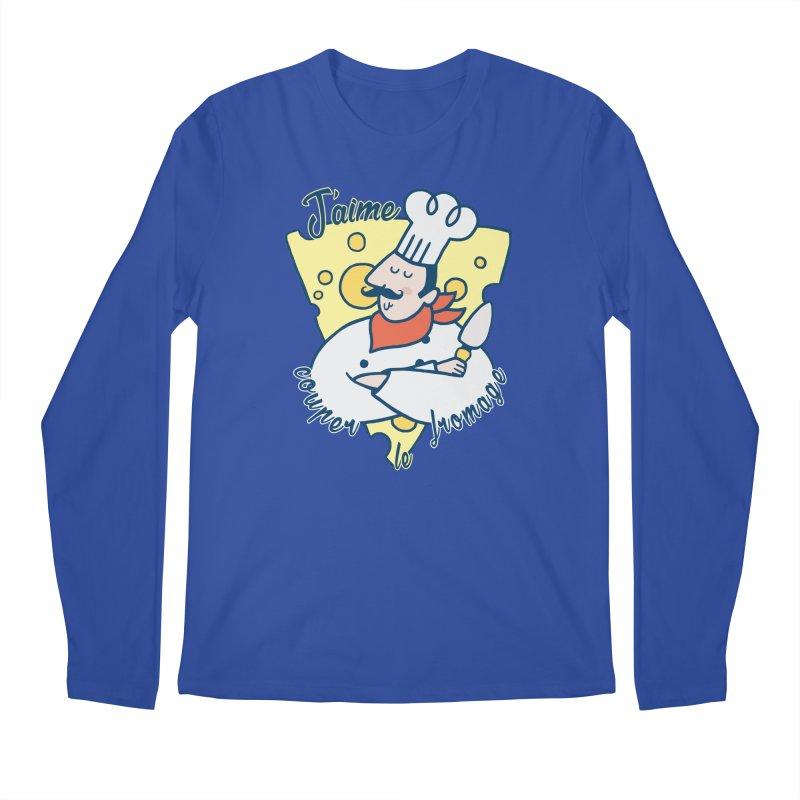 J'aime Couper le Fromage Men's Longsleeve T-Shirt by Slogantees