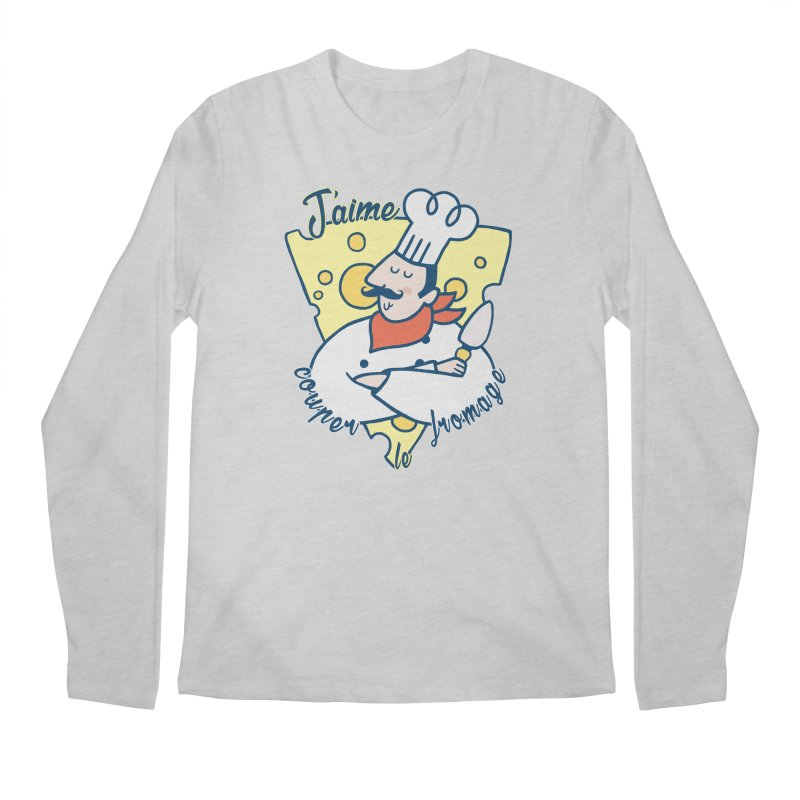 J'aime Couper le Fromage Men's Longsleeve T-Shirt by Slogantees