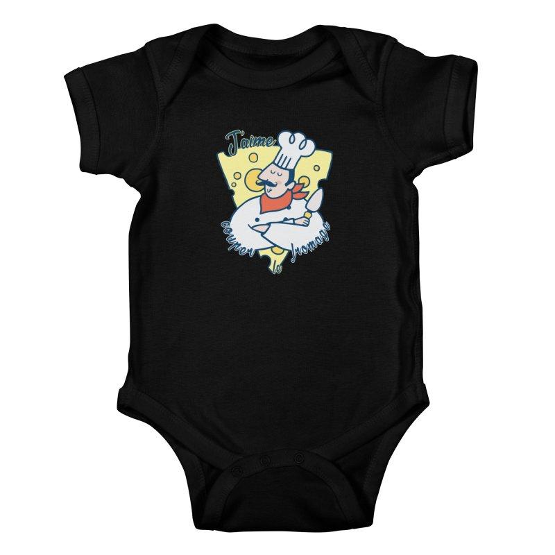 J'aime Couper le Fromage Kids Baby Bodysuit by Slogantees