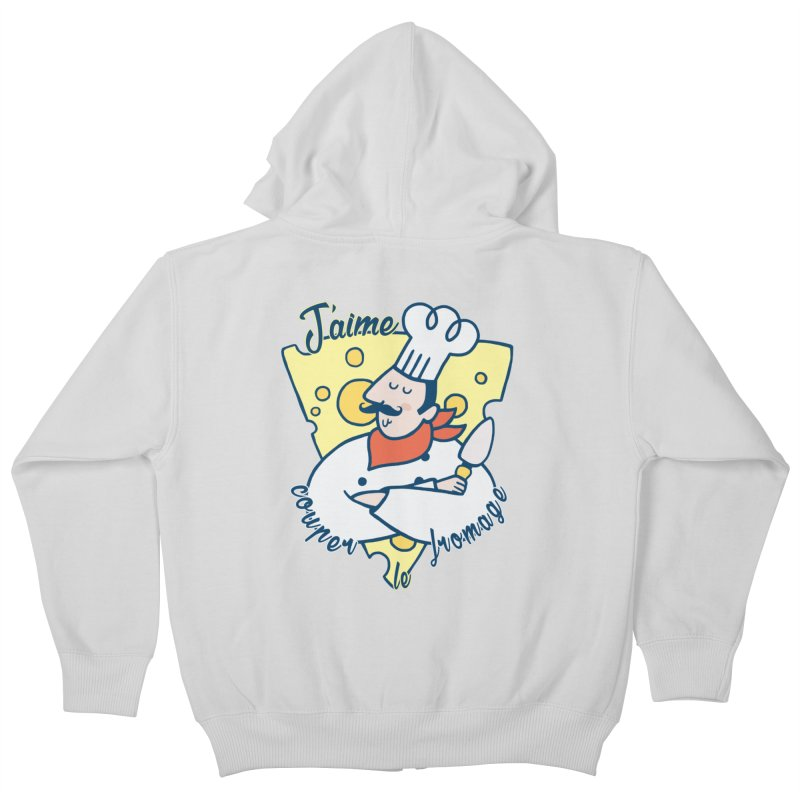 J'aime Couper le Fromage Kids Zip-Up Hoody by Slogantees