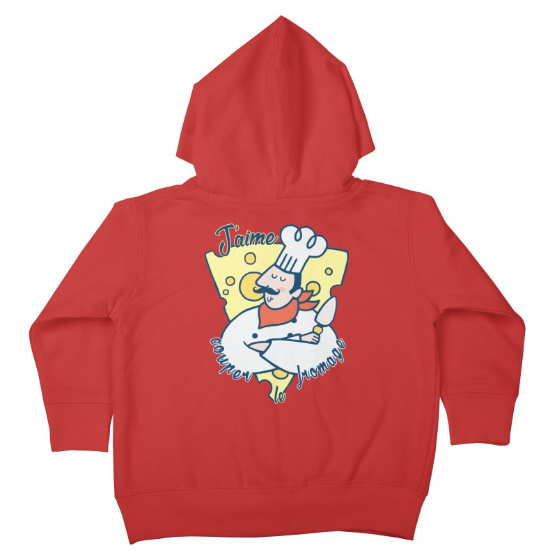 J'aime Couper le Fromage Kids Toddler Zip-Up Hoody by Slogantees