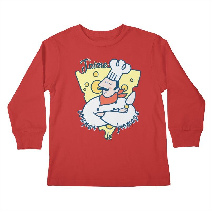 J'aime Couper le Fromage Kids Longsleeve T-Shirt by Slogantees