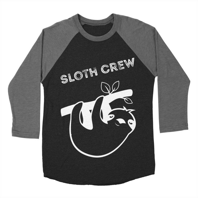 Sloth Crew Men's Baseball Triblend Longsleeve T-Shirt by slothcrew's Artist Shop