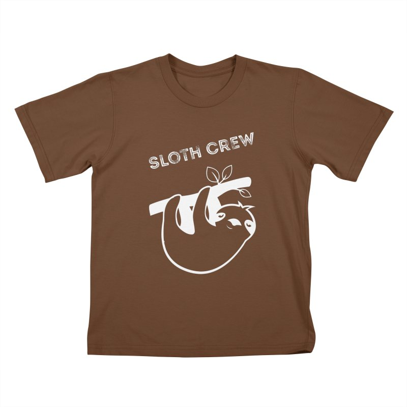 Sloth Crew Kids T-Shirt by slothcrew's Artist Shop