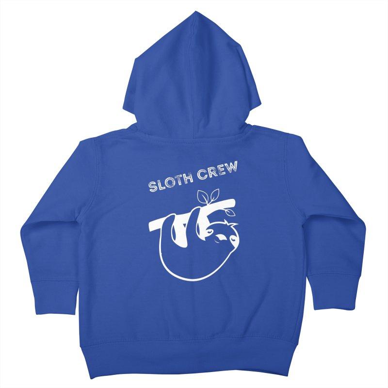 Sloth Crew Kids Toddler Zip-Up Hoody by slothcrew's Artist Shop