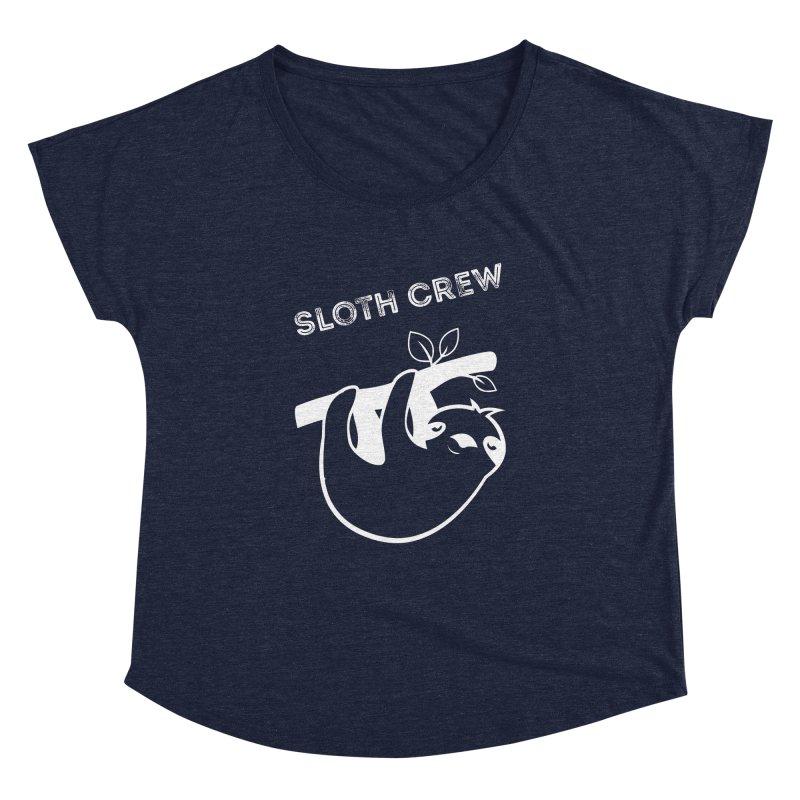 Sloth Crew Women's Dolman Scoop Neck by slothcrew's Artist Shop
