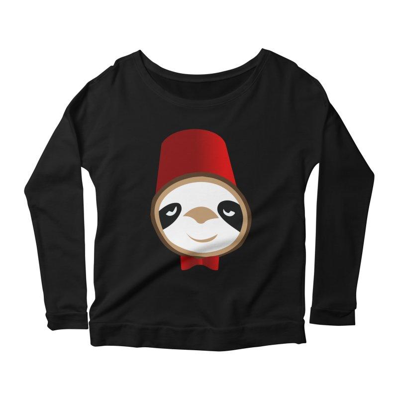 Doctor Sloth Women's Scoop Neck Longsleeve T-Shirt by slothcrew's Artist Shop
