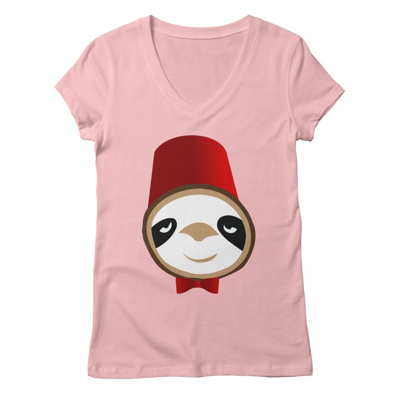 Doctor Sloth Women's Regular V-Neck by slothcrew's Artist Shop