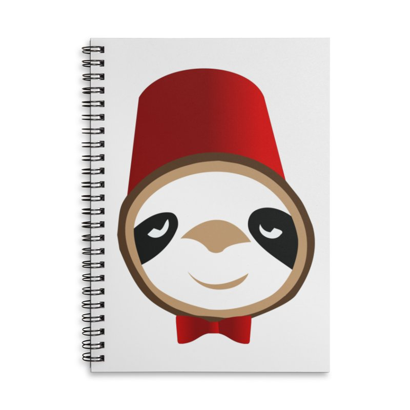 Doctor Sloth Accessories Lined Spiral Notebook by slothcrew's Artist Shop