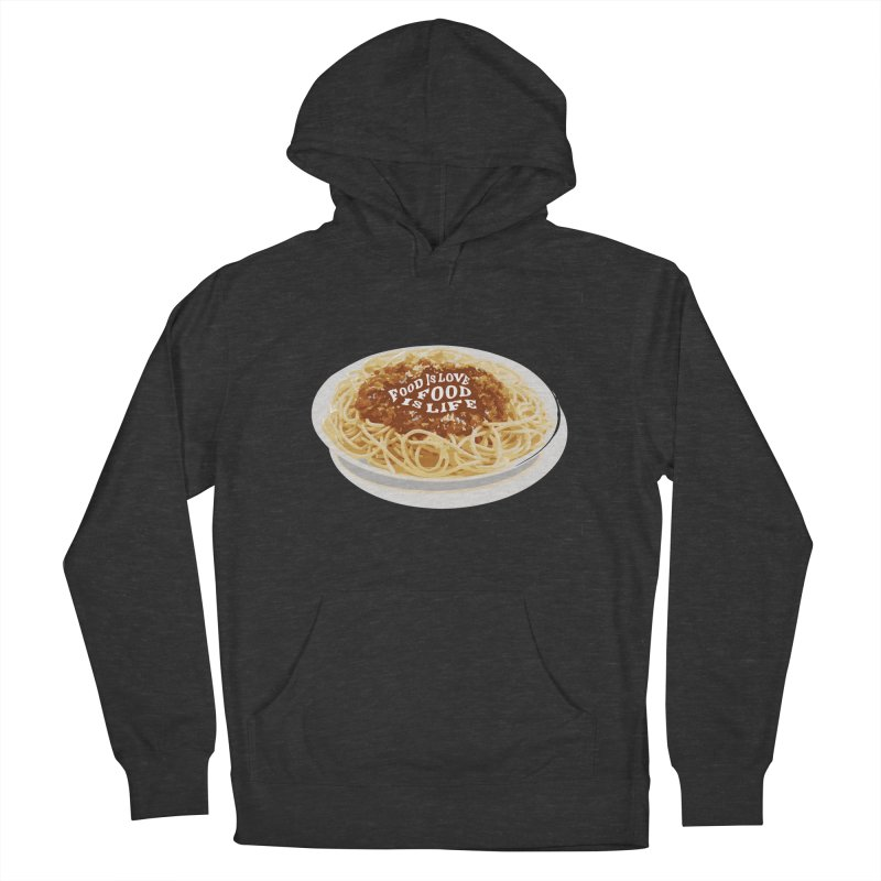 Food is Life Men's French Terry Pullover Hoody by slothcrew's Artist Shop