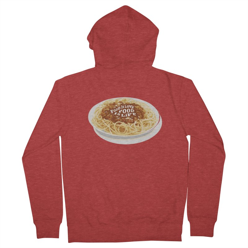 Food is Life Women's French Terry Zip-Up Hoody by slothcrew's Artist Shop