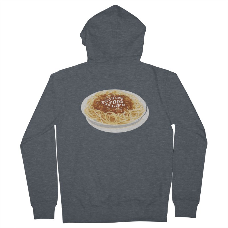 Food is Life Men's French Terry Zip-Up Hoody by slothcrew's Artist Shop