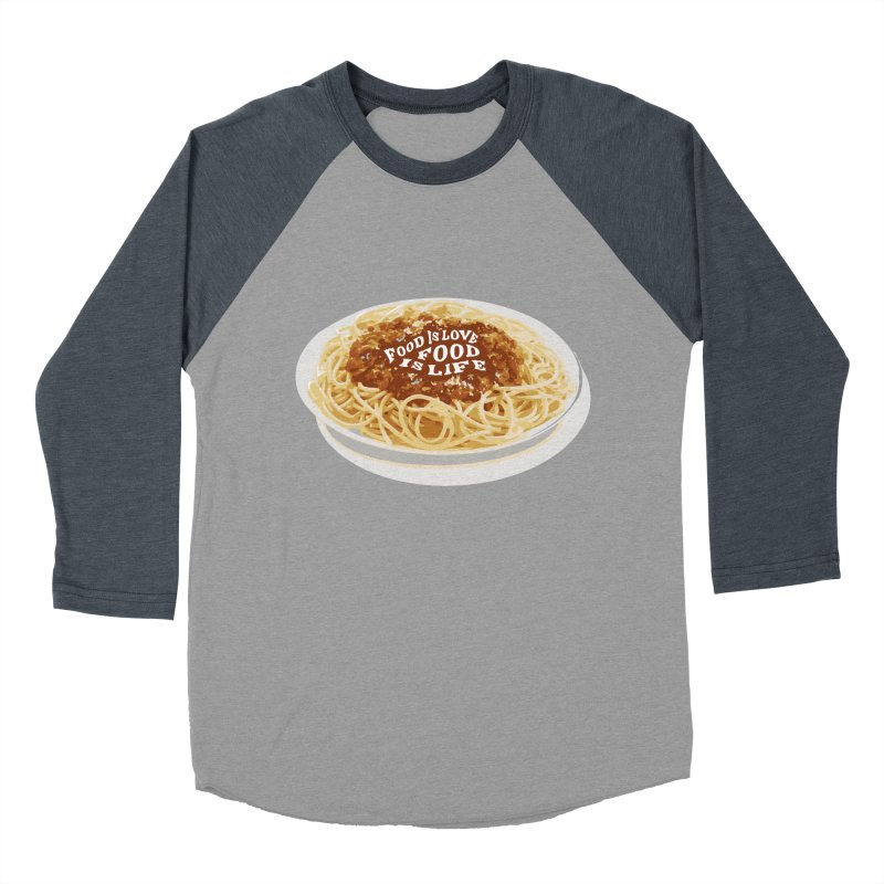 Food is Life Women's Baseball Triblend Longsleeve T-Shirt by slothcrew's Artist Shop