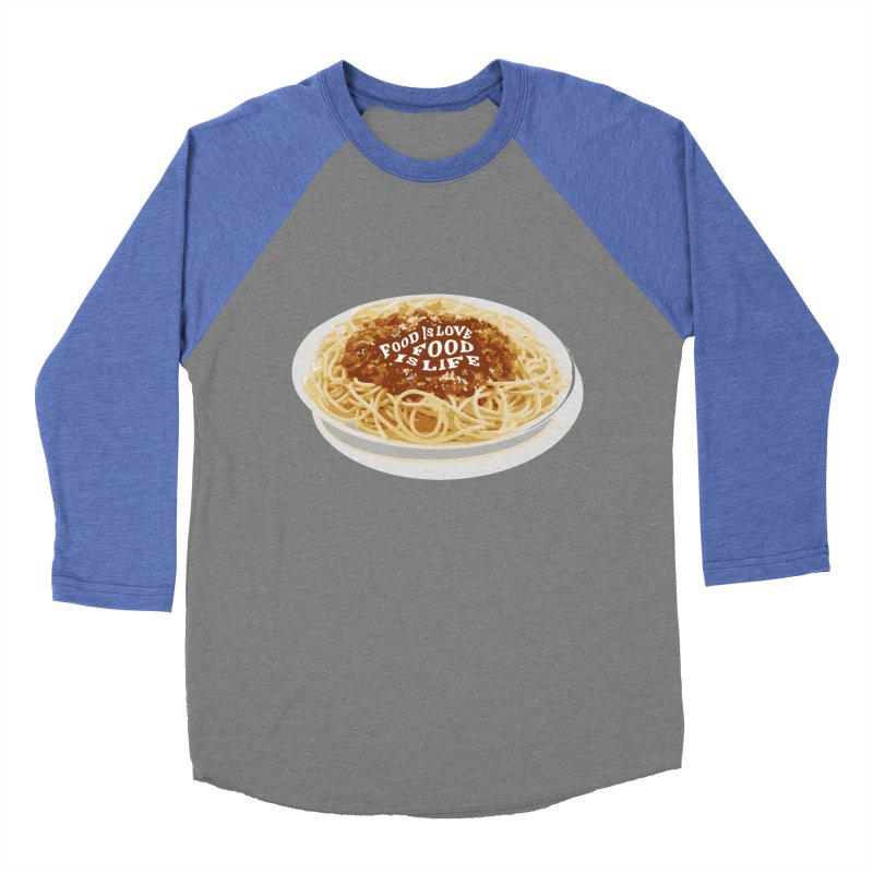 Food is Life Men's Baseball Triblend Longsleeve T-Shirt by slothcrew's Artist Shop