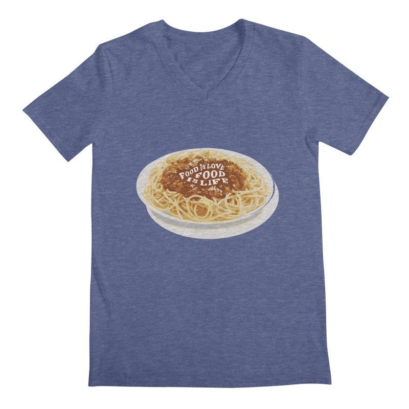 Food is Life Men's Regular V-Neck by slothcrew's Artist Shop