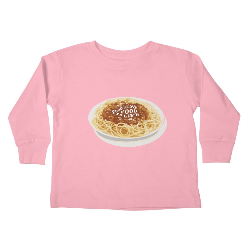 Food is Life Kids Toddler Longsleeve T-Shirt by slothcrew's Artist Shop