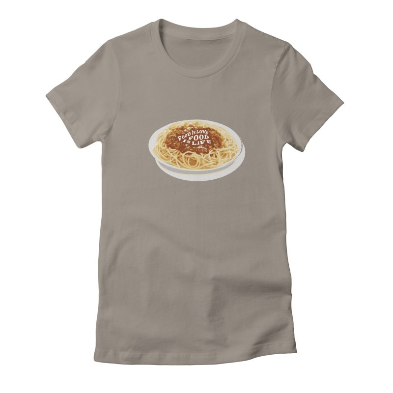Food is Life Women's Fitted T-Shirt by slothcrew's Artist Shop