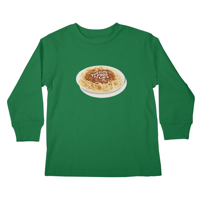 Food is Life Kids Longsleeve T-Shirt by slothcrew's Artist Shop