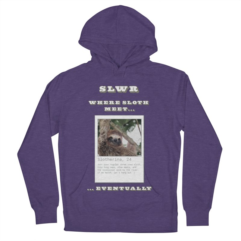 Slwr: Where Sloth Meet Men's French Terry Pullover Hoody by slothcrew's Artist Shop