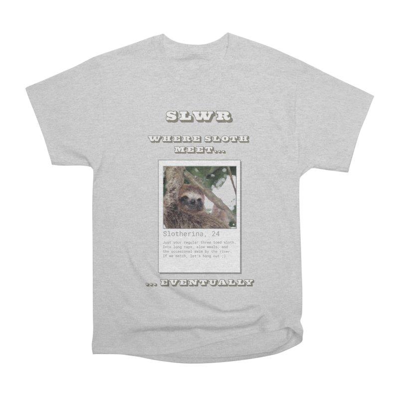 Slwr: Where Sloth Meet Women's Heavyweight Unisex T-Shirt by slothcrew's Artist Shop