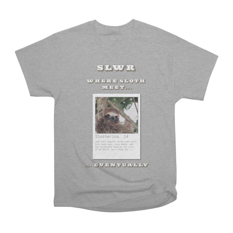 Slwr: Where Sloth Meet Men's Heavyweight T-Shirt by slothcrew's Artist Shop