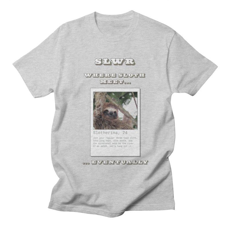 Slwr: Where Sloth Meet Women's Regular Unisex T-Shirt by slothcrew's Artist Shop