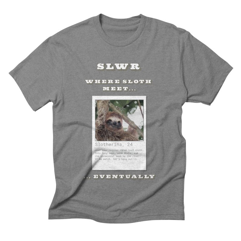 Slwr: Where Sloth Meet Men's Triblend T-Shirt by slothcrew's Artist Shop