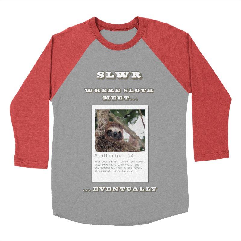 Slwr: Where Sloth Meet Women's Baseball Triblend Longsleeve T-Shirt by slothcrew's Artist Shop