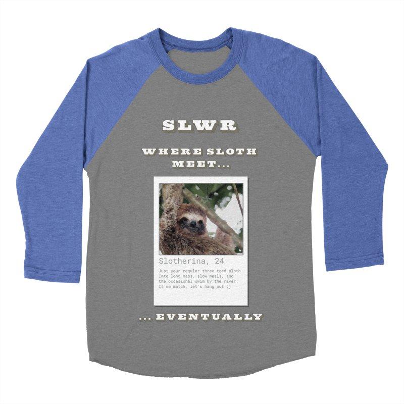 Slwr: Where Sloth Meet Men's Baseball Triblend Longsleeve T-Shirt by slothcrew's Artist Shop