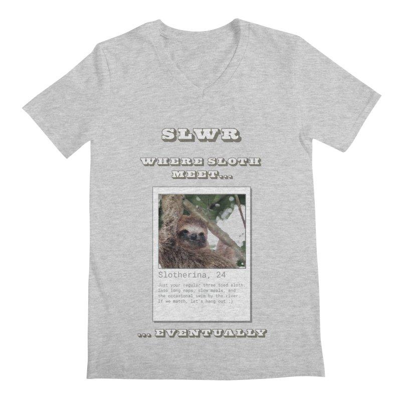 Slwr: Where Sloth Meet Men's Regular V-Neck by slothcrew's Artist Shop