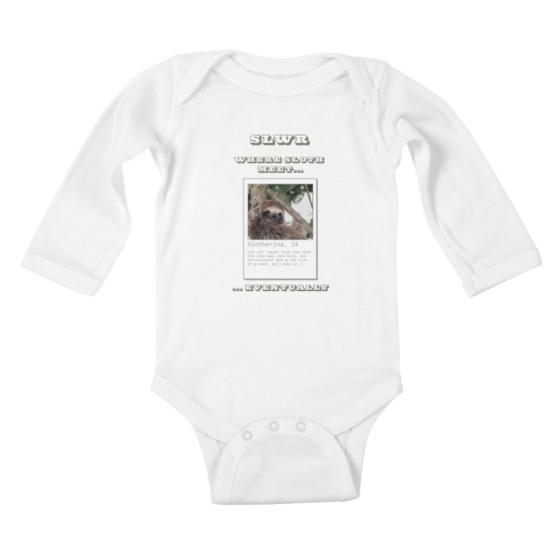Slwr: Where Sloth Meet Kids Baby Longsleeve Bodysuit by slothcrew's Artist Shop