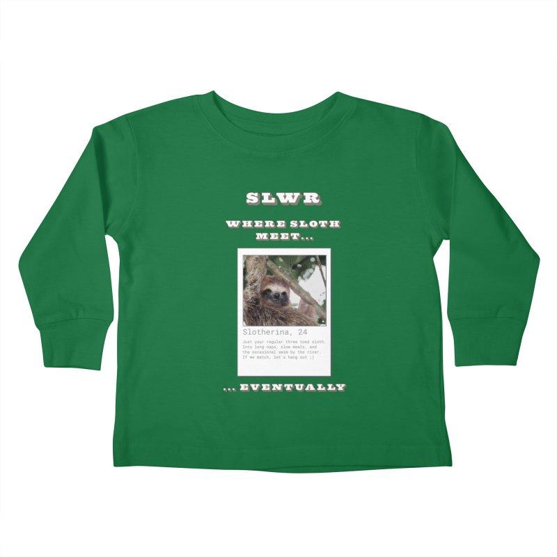 Slwr: Where Sloth Meet Kids Toddler Longsleeve T-Shirt by slothcrew's Artist Shop