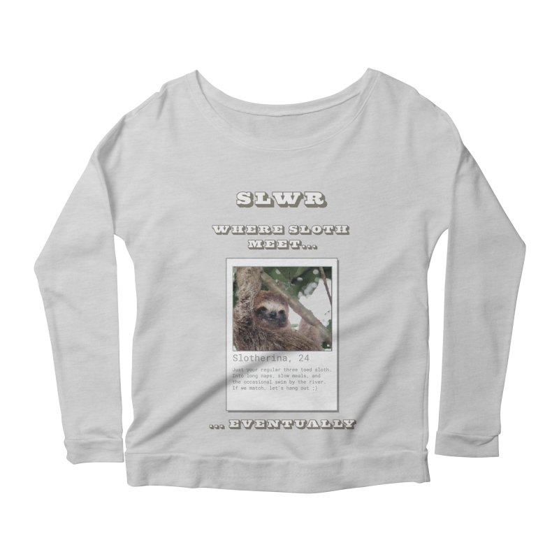 Slwr: Where Sloth Meet Women's Scoop Neck Longsleeve T-Shirt by slothcrew's Artist Shop