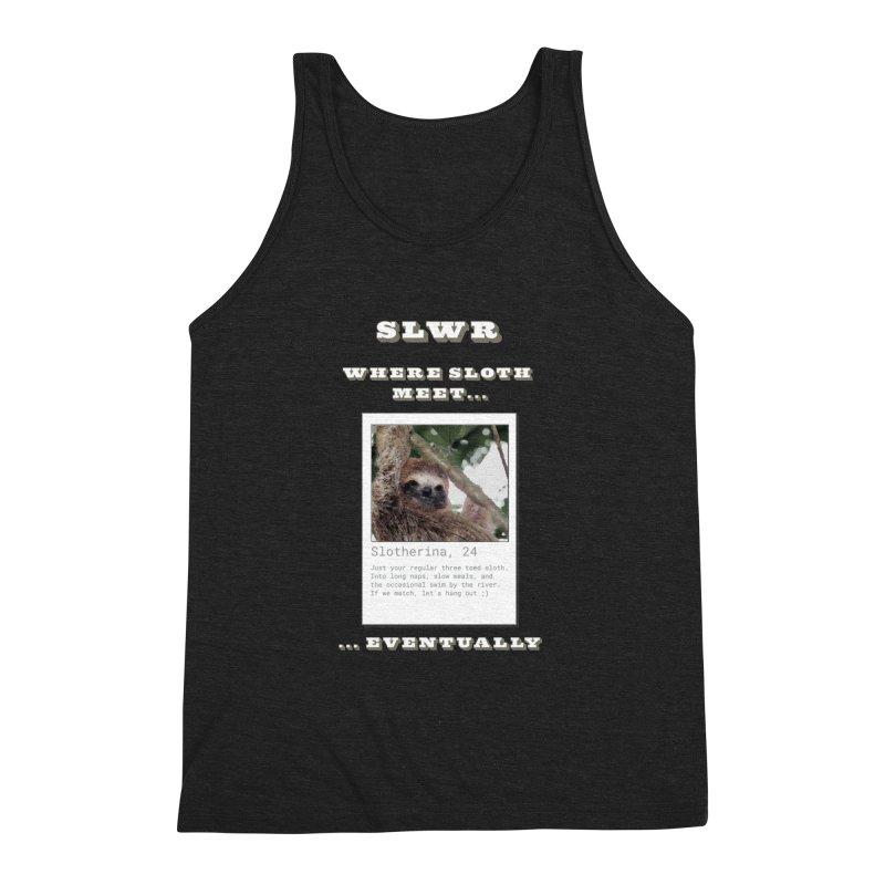 Slwr: Where Sloth Meet Men's Triblend Tank by slothcrew's Artist Shop