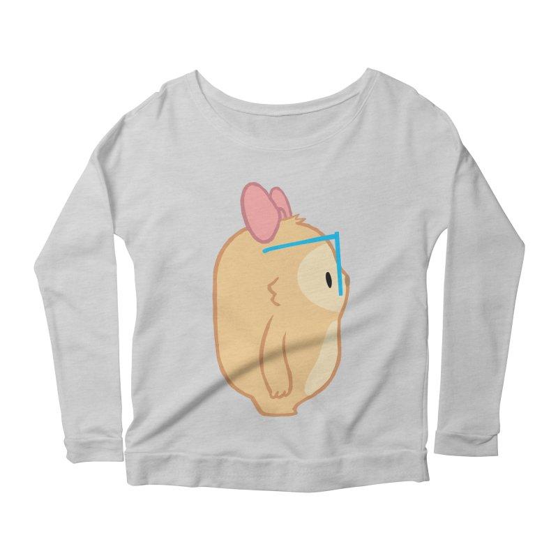 Slothilda Profile Women's Scoop Neck Longsleeve T-Shirt by SLOTHILDA