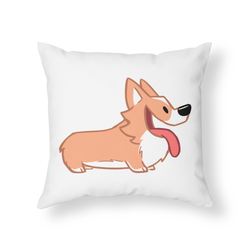 Peanut Home Throw Pillow by SLOTHILDA