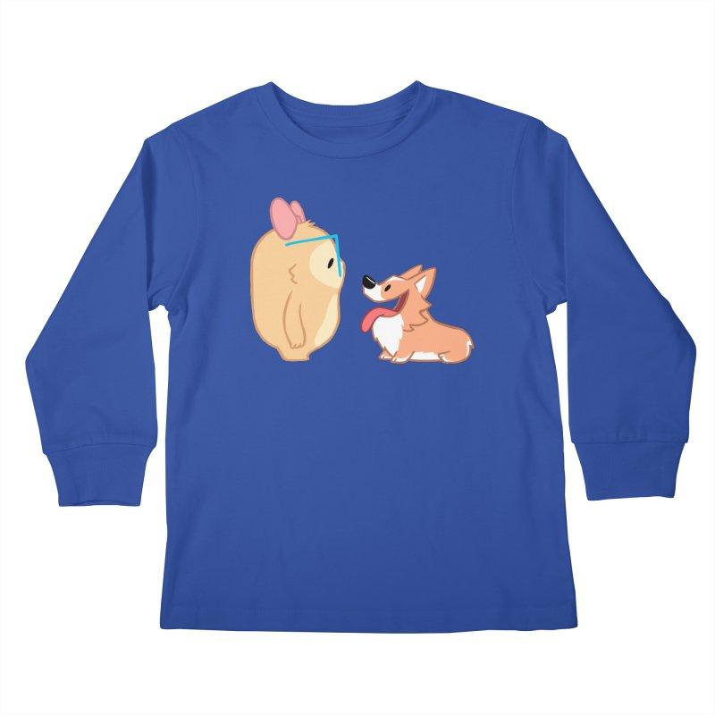 Slothilda & Peanut Kids Longsleeve T-Shirt by SLOTHILDA