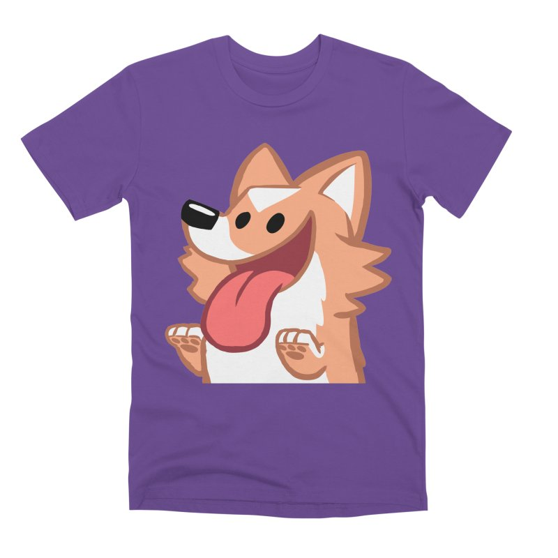Peanut Face in Men's Premium T-Shirt Purple by SLOTHILDA
