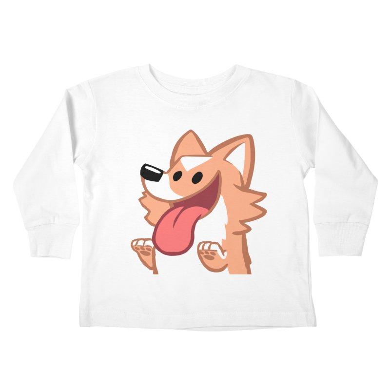 Peanut Face Kids Toddler Longsleeve T-Shirt by SLOTHILDA